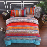 2 Pack Bohemian Pillowcase Standard for Hair 20x30 Queen Boho Rose Red Teal Floral Pillow Shams Exotic Envelope Closure Soft Microfiber Bohemia Ethnic Tribal Pillow Cover