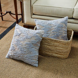 Throw Pillows Covers 18 x 18,Set of 2 Grey Fur With Silver Embroider Sequins Soft Throw Pillows for Couch Bed,Accent Home Decorative Square Cushions Cases Shams Pillowcases Farmhouse,45 x 45 CM