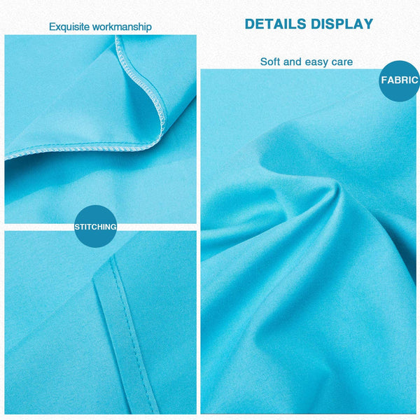 "FLXXIE 2 Pack Microfiber Queen Pillowcases, Envelope Closure, Ultra Soft and Premium Quality, 20"" x 30"" (Blue, Queen)"