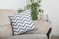 TreeWool, Pack of 2, Throw Pillow Cover Chevron Accent 100% Cotton Decorative Square Cushion Cases (18 x 18 Inches / 45 x 45 cm; Black & White)