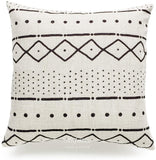 "Hofdeco Decorative Throw Pillow Cover HEAVY WEIGHT Cotton Linen African Mud Cloth Ethnic Natural Dots and Line 18""x18"" 45cm x 45cm Set of 2"