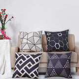 Wionee Pack of 2 Beige Throw Pillow Covers 18x18 Inch Modern Outdoor Pillows Geometric Pillow Cases for Couch Sofa Room