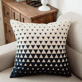 YeeJu Geometric Decorative Throw Pillow Covers Square Cotton Linen Cushion Covers Outdoor Sofa Home Pillow Covers 18x18 Inch