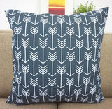 Howarmer Canvas Cotton Cushion Cover, Geometric Pattern, 18 x 18-Inch, Set of 4