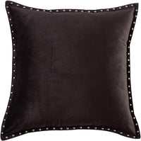 Cassiel Home Black Throw Pillow Cover 18x18 - Elastic Embroidery Modern Geometric Textured Velvet Stripe Pillow Cover - Soft Cushion Cover for Sofa Couch Bedroom Soild Black