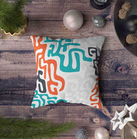 EMMTEEY Abstract Geometric Chevron Pillow Covers, 20x20 Throw Pillow Covers Abstract Geometric Chevron Ethnic Colorful Bohemian Pattern with Elements African Mud Square Double Sided Printing