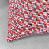 KEQIAOSUOCAI Jacquard Throw Pillow Cover for Couch Sofa Bed Retro Stripe and Geometric Pattern Pillow Case(Only Pillow Cover (2 Pieces, 16x16,Red)