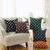 Sunday Praise Set of 2,Soft Chenille Decorative Throw Pillow Cover Case Geometric Stars Pattern Design Accent Square Cushion Cover Case Sham for Couch Sofa Bed Car 18 x 18 Inch 45x45cm (Blue)