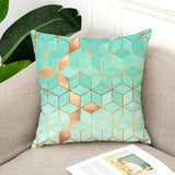 TAOSON Set of 2 Home Decorative Colorful Gradient Geometric Print Cozy Throw Pillow Cases Cushion Covers Shells for Couch Bed Sofa Farmhouse Manual 18x18 Inches Only Cover No Insert S005