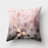 Pink Marble Geometric Sofa Decorative Cushion Cover Pillow Pillowcase Polyester 45*45 Throw Pillow Home Decor Pillowcover 40507