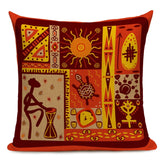 African Style Geometric Printing Cushion Covers Ethnic Linen Throw Elephant Pillow Case Sofa Car Seat Home Decorative Custom