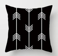 ZENGIA Geometric Cushion Cover Black and White Comic Throw Pillow Case For Home Decorative 45x45cm Nordic Cartoon Pillowcase