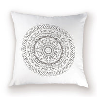 Vintage Bohemian Throw Pillow Case Mandala Cushion Covers  Farmhouse Flax Home Decorative Cases Shabby Chic Decor Pillow Cover