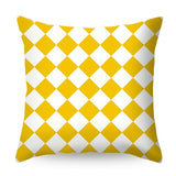 Urijk Geometric Printed Throw Pillow Case Yellow Gray Diamond Wave Waist Cushion Cover Office Sofa Housse de Coussin Kussenhoes