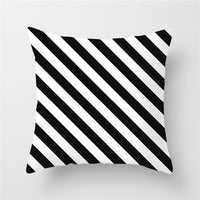 Fuwatacchi Geometric Pattern Cushion Cover Black White Soft Throw Pillow Cover Decorative Sofa Pillow Case Pillowcase Christmas
