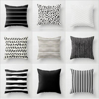 45*45 Nordic Stripes Geometric Cushions Cover Double-sided Print Polyester Pillowcase Sofa Car Decorative Pillow Case Home Decor
