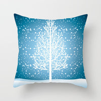 Fuwatacchi Messy Christmas Elk Cushion Cover Snowflake Tree Printed Pillow Cover for Home Sofa Chair Decorative Pillows 45*45cm