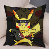 Funny Pikachu Cos Japan Anime Naruto Cushion Cover Decor Cute Cartoon Pokemon Pillowcase for Sofa Car Home Plush Pillow Cover