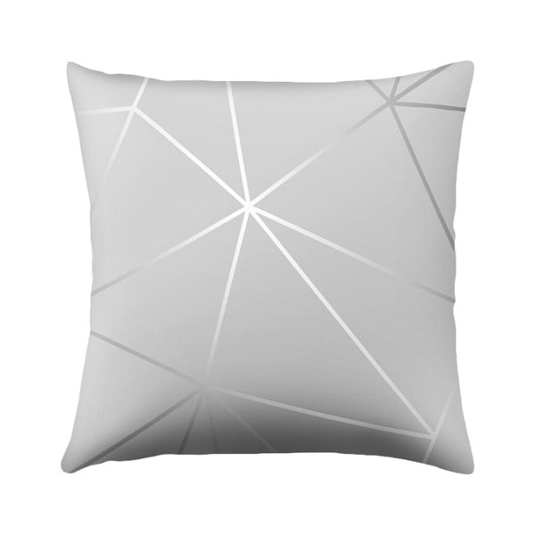 DIDIHOU 45*45cm Gray Geometric Cushion Cover Polyester Pillowcase Cojines Striped Decorative Pillows Case Throw Pillows For Sofa