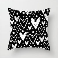Fuwatacchi White and Black Stripe Wove Throw Pillow Case Geometric Cushion Covers  for Home Sofa Chair Decorative Pillowcases