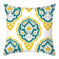 Fuwatacchi Nordic style Geometric Cushion Cover Green Pillow Cover For Home Sofa Decorative Pillowcases Polyester Throw Pillows