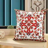 Indian elephant embroidered sofa cushion cover flower throw pillow cover cotton boho style decorative pillow case 45x45cm