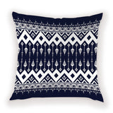 Vintage National Stripe Bohemian Style Geometric Home Decorative Throw Pillow Covers White Ethnic Cushion Cover Case 45cm*45cm
