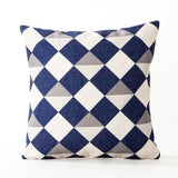 Nordic Geometry Pillow Cover Navy Blue Geometric Cushion Cover Home Decorative Linen Pillow Case Sofa Cushion Cover