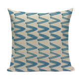 Nordic geometric cushion cover blue Plaid Geometric Cotton and linen home cushions Square Sofa Seat Luxury throw pillows custom