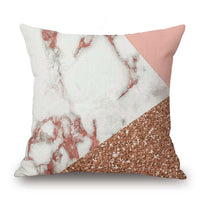 Pink Geometric Abstract Decorative Pillows Case Marble Pattern Designer White and Black Grey Cheap Cushion Cover 45*45 cm