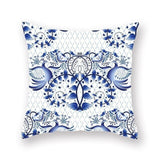 1Pcs Blue Geometric Mandala Pattern Pillow Case Polyester Throw Pillow Home Sofa Bed Car Decoration Cushion Cover 45*45cm 40818