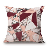 Home Decorative Sofa Pillowcase Fashion Abstract Marble Geometric Pattern Square Cushion Cover Pillow Case Free Shipping