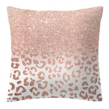 Decorative Sqaure Pillow Case Rose Gold Geometric Pineapple Polka Dot Home Car Cushion Cover One Side Printed