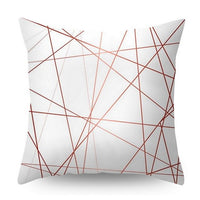 Urijk 45x45cm Lash Pillowcase Rose Gold Printed Cushion Cover Geometric Dreamlike Polyester Square Throw Pillow Cover
