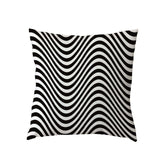 Throw Pillowcase Black and White Striped Zebra Geometric 45x45Cm Square Houseware Home Living Room Couch Decorate Cushion Cover