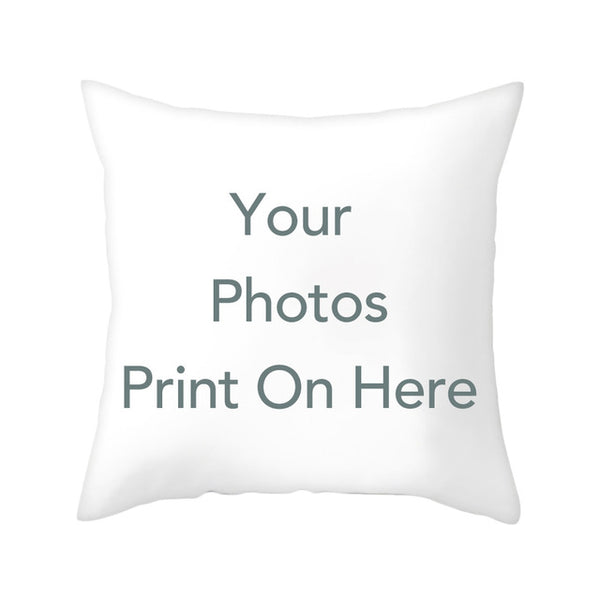 OLOEY Design Picture Here Personal Photo Wedding Pet Photos Customize Gift Throw Pillowcase Home Cushion Cover Pillow Cover
