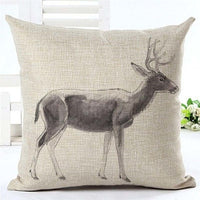 Drop Shipping Custom Elk New 24 styles Linen Pillow Cover Geometric Deer Cushion Cover Nordic Style Home Decorative Pillow Case
