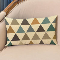 Nordic 18'' Geometric Style Linen Cushion Cover Decorative Pillows Arrow Cactus Rectangular Waist Pillow Case Sofa Cushion Cover