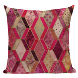 Colorful Geometric Cushion Cover Green Pink Diamond Bedroom Car Cotton Linen Home Decoraction Sofa Mordon Custom Pillow Case