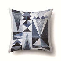 2018 Nordic Blue Sofa Cushions Cover Linen Cotton Bohemian Ethnic Throw Pillows Covers Grey Decoration Geometric Cushions Cover