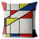 Mondrian Yellow Geometric Stitching Throw Pillow Cover 45*45cm Square Cushion Covers Linen Pillows Cases Home Decor Pillow Case