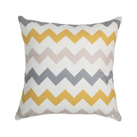 Topfinel Modern Geometric Decorative Throw Pillow Cases Cushion Covers For Sofa Seat Chair Car 45x45cm Gray Yellow Color