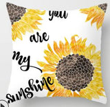 ZENGIA Cojines Decor Para Sofa Cushion Cover Yellow Flowers Pillow Geometric Polyester Decoration Home Decor Housse De Coussin