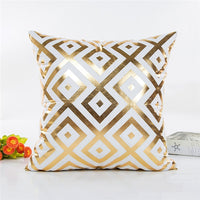 MIHE Christmas Cushion Cover Decorative Pillow Case Gold Sofa Bed Seat Covers Car Pillowcase Throw Pillow Cover For Home