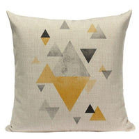 Custom Throw Pillow Covers Geometric Cushion Cover Nordic Decoration Home High Quality Yellow Deer Pillow Case For Pillow