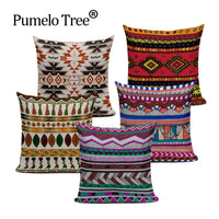 Nordic Style Bohemia Geometry Pattern Printed Throw Pillow Covers Linen Cushion Cover Decoration For Sofa Car Covers Boho Pillow