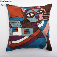Geometric Embroidered Cushion Cover Home Decorative Pillows Case Embroidery pillowcases Embroidered  Throw Pillows For Sofa
