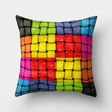 Rainbow Pillow Case Cushion Cover Cushion Colorful Geometric Feather Polyester Decor for Home Car Sofa Pillow Cover 40544