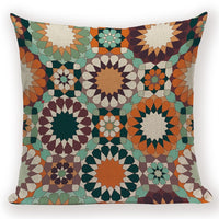 Boho Retro Pillow Case Abstract  Geometric Decoration Throw Pillows Square Cushion Cover Home Decoration Bed Sofa Cushions Cover