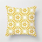 Fuwatacchi Geometric Painting Cushion Cover Yellow Gray Diamond Wave Print Pillowcase Sofa Chair Home Decor throw pillows Cover